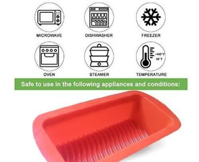 0772 Silicone Square Baking Loaf Mould Tray - DeoDap