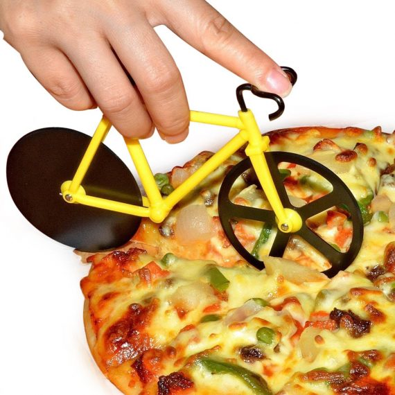 0649 stainless steel Bicycle shape Pizza cutter - DeoDap