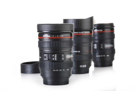 0720 Camera Lens Shaped Coffee Mug Flask With Lid - DeoDap