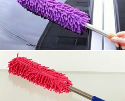 0707 Multipurpose Microfiber Cleaning Duster With Extendable Telescopic Wall Hanging Handle - DeoDap