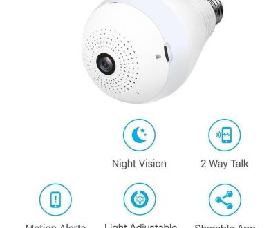 0323 Panoramic Camera Light Bulb (WiFi Wireless Smart spy Bulb) - DeoDap