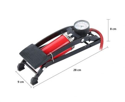 0526 High Pressure Deluxe/Strong Foot Pump For Bicycle, Car, Bike - DeoDap