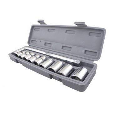 0407 -10 pc, 6 pt. 3/8 in. Drive Standard Socket Wrench Set - DeoDap