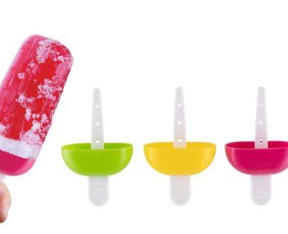 0737  6 Pcs Multicolor Polypropylene Ice Mold, Kulfi Maker/Stick/Cream/Candy Color Assorted - DeoDap