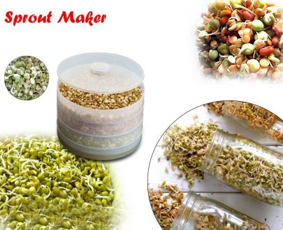 2060 Patidar Plastic 4 Compartment Layer Sprout Maker Box - DeoDap