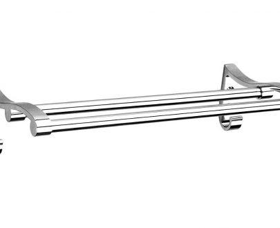 0490 Stainless Steel Towel Rack Cum Towel Bar 24 Inch - DeoDap