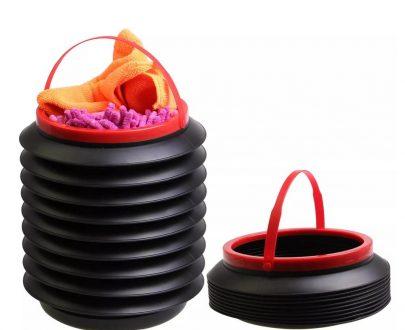 0237 -4L Foldable Car Trash Can Storage Organiser - DeoDap