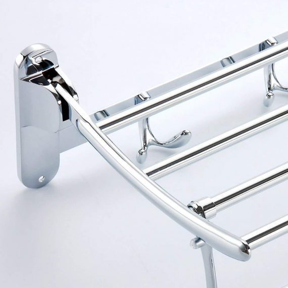 0314 Bathroom Accessories Stainless Steel Folding Towel Rack - DeoDap