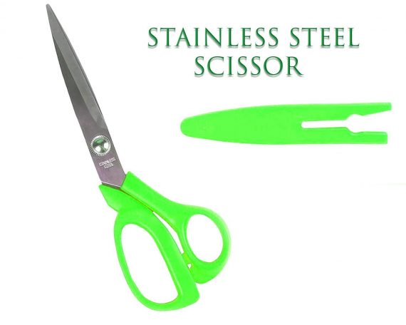 0555 stainless Steel Scissors with Cover 8inch - DeoDap
