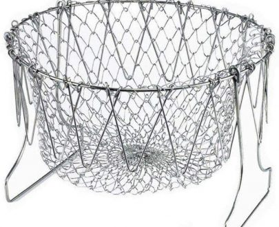 0139 Foldable Strainer Chef Basket - DeoDap