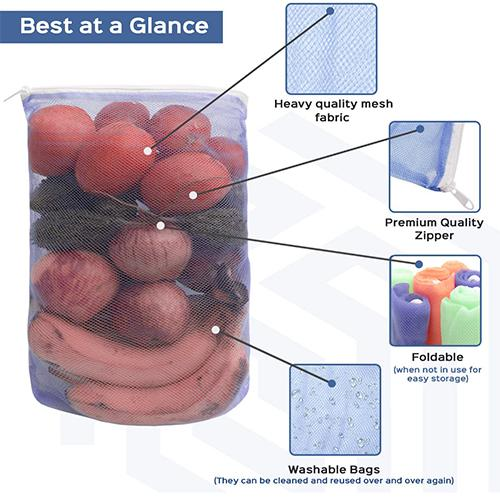 2163 Reusable Silicone Food Storage Bag Containers for Vegetable - DeoDap