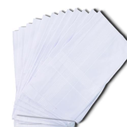 1537 Men's King Size Formal Handkerchiefs for Office Use - Pack of 12 - DeoDap