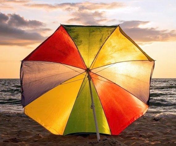 1276 Sun Protection Water Proof Fabric Polyester Garden Umbrella for Beach, Lawn - DeoDap