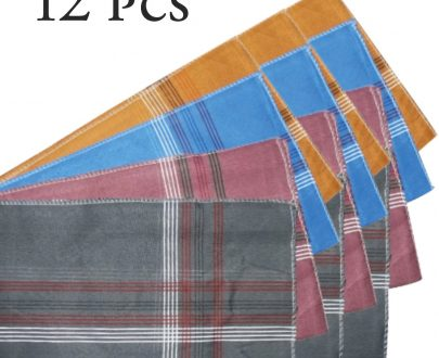 1532 Men's King Size Formal Handkerchiefs for Office Use - Pack of 12 - DeoDap