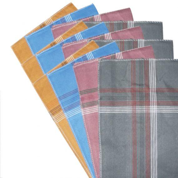 1532 Men's King Size Formal Handkerchiefs for Office Use - Pack of 12 - DeoDap