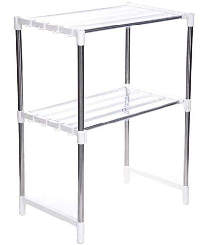 0820 Microwave Storage Oven Rack Stand for kitchen Use - DeoDap