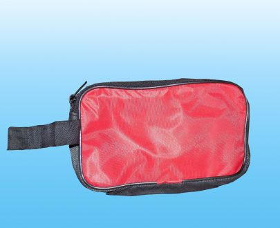 0845 Portable Travel Hand Pouch/Shaving Kit Bag for Multipurpose Use (Red) - DeoDap