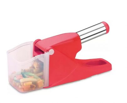 0114 Virgin Plastic French Fry Chipser, Potato Chipser/Potato Slicer with Container - DeoDap