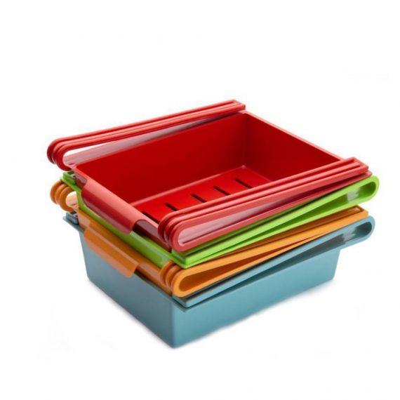 0160 Fridge Space Saver Organizer Slide Storage Racks Shelf (1 pcs) - DeoDap