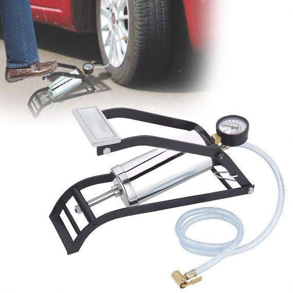 0522 Heavy Steel Body Foot Pump - DeoDap