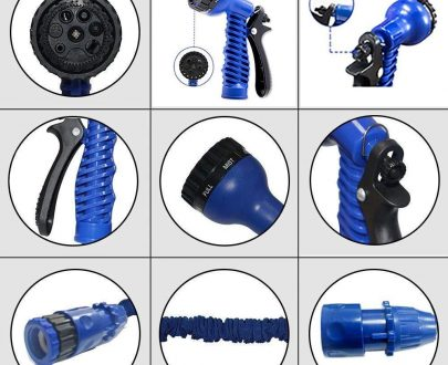 0502 -50 Ft Expandable Hose Pipe Nozzle For Garden Wash Car Bike With Spray Gun - DeoDap
