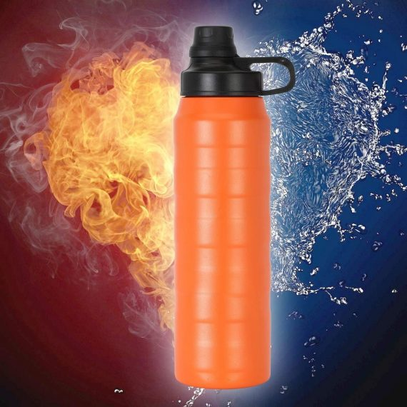 0327 Water Bottle Thermo Steel 900ml, Thermos Flask Water Bottle for Cold Water - DeoDap
