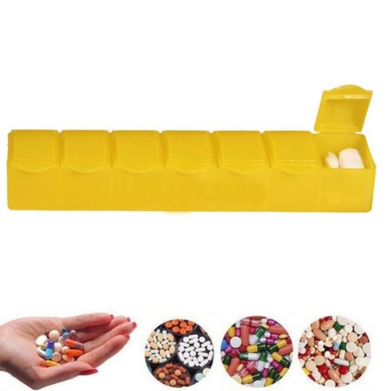 0347 -7 Days Pill Box with 7 Compartments - DeoDap