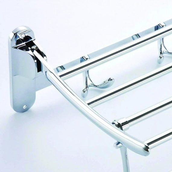 0491 Stainless Steel Folding Towel Rack Cum Towel Bar 18 Inch - DeoDap