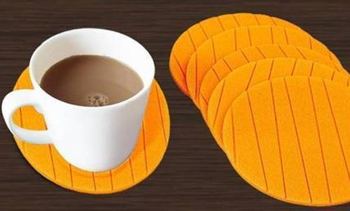 0129 6 pcs Useful Round Shape Plain Silicone Cup Mat Coaster Drinking Tea Coffee Mug Wine Mat for Home - DeoDap