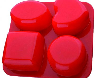 0773 Silicone Circle, Square, Oval and Heart Shape Soap And Mini Cake Making Mould - DeoDap