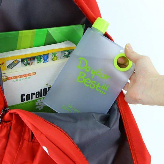0364 Notebook Style Slim Water Bottle (380 ml, Multicolor) - DeoDap