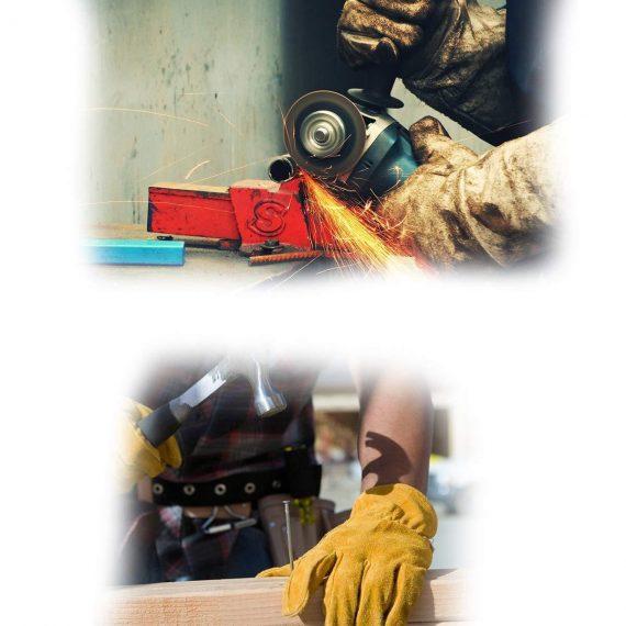 0716 Protective Durable Heat Resistant Welding Gloves - DeoDap