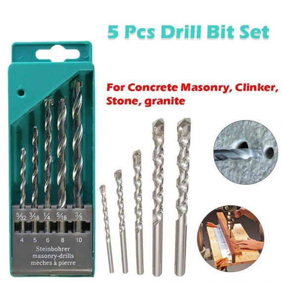 0416 Metal Drill Bit Set (Multicolor, 5-Piece) - DeoDap
