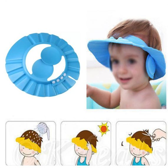 0378 Adjustable Safe Soft Baby Shower cap - DeoDap