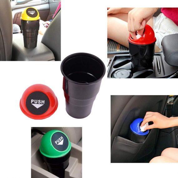 0537 Car Dustbin/Mini Car Trash Bin/Car Ashtray - DeoDap