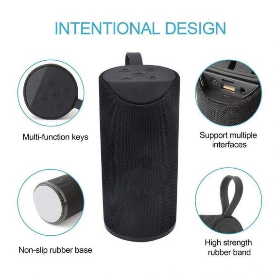 0304 Wireless/Bluetooth Portable Mobile Speaker (Multicolour) - DeoDap
