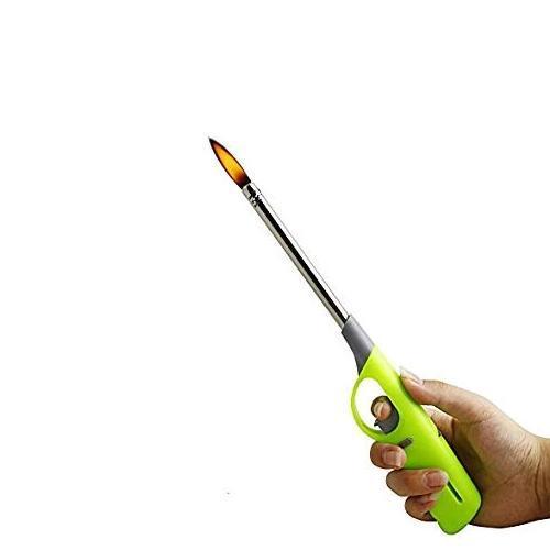 0154 Plastic Adjustable Flame & Gas refillable Lighter (Multicolour) - DeoDap