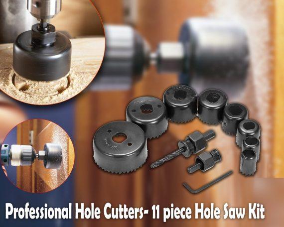 0428 Wood Hole Saw Cutting Set (11 pcs, 19-64mm, Multicolour) - DeoDap