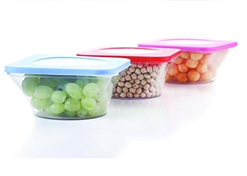 0734 Airtight Kitchen Food Storage Multi Use Containers 4pc (700 ml) - DeoDap