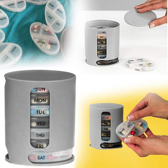 0374 Pill Pro 7 Day Weekly Tablet Medicine Organizer Box - DeoDap