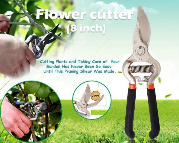 0466 Garden Shears Pruners Scissor (8 inch) - DeoDap