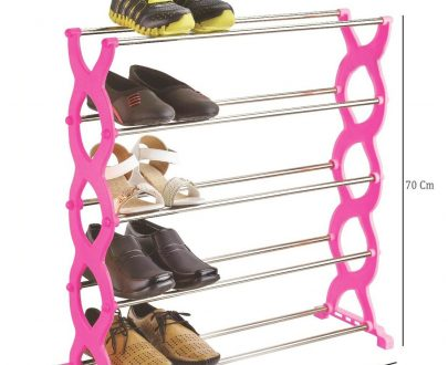 0520 Stackable 5 Layer Folding Shoe Rack - DeoDap