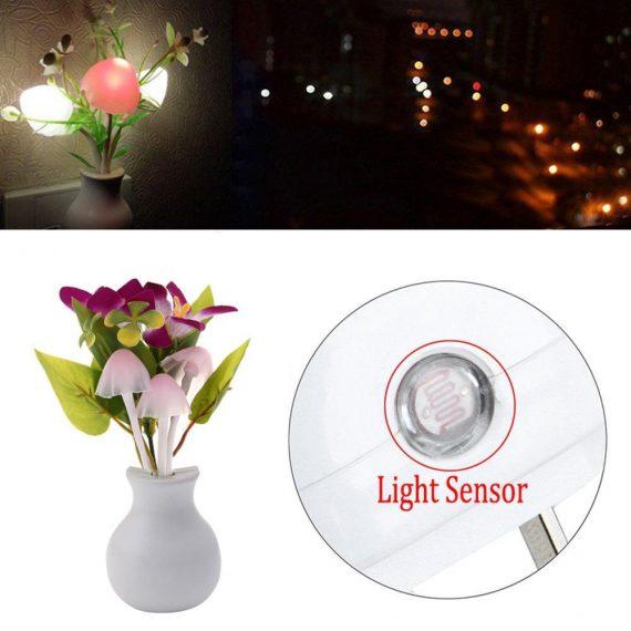 0217 LED Dream Night Light, Auto ON/Off Sensor Mushroom Lamp (Multicolor) - DeoDap
