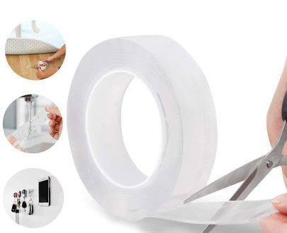 0882 Double Sided Nano Adhesive Tape, 3 meter Washable Traceless Nano Gel Tape, Multipurpose - DeoDap