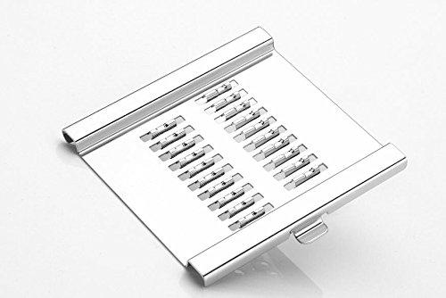 2142 6 in 1 Stainless Steel Kitchen Chips Chopper Cutter Slicer and Grater with Handle - DeoDap