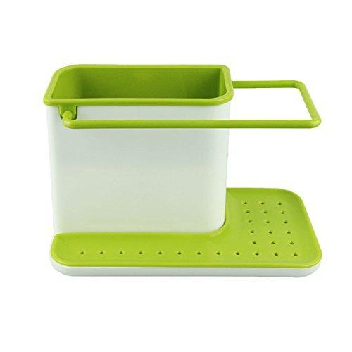 2155 Plastic 3-in-1 Stand for Kitchen Sink Organizer Dispenser for Dishwasher Liquid - DeoDap