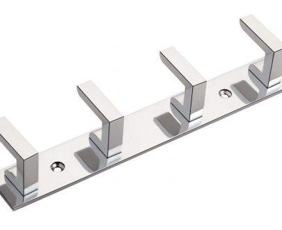 0471_ 4 Pin Premium Stainless Steel  Cloth Hanger Hook Set (Silver) - DeoDap