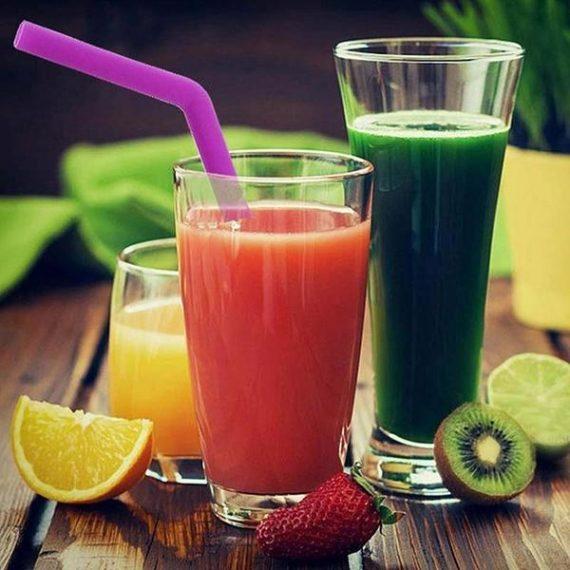 0584 Food Grade Silicone Straws (4pcs) - DeoDap
