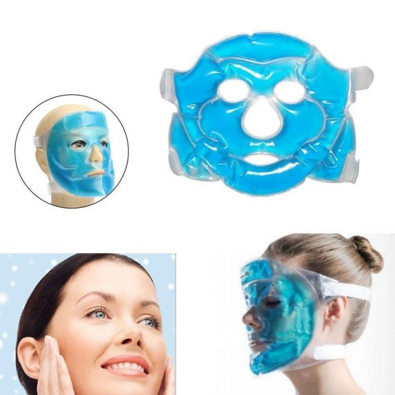 0380 Reusable Cooling Gel Face Mask with Strap-on Velcro, Medium - DeoDap
