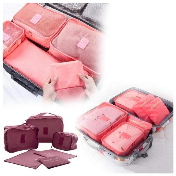 0192 Cloth Organizer Pouch Laundry Zipper Bags (6 pcs) - DeoDap